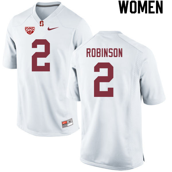 Women #2 Curtis Robinson Stanford Cardinal College Football Jerseys Sale-White