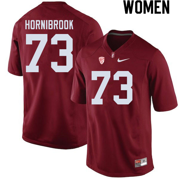 Women #73 Jake Hornibrook Stanford Cardinal College Football Jerseys Sale-Cardinal