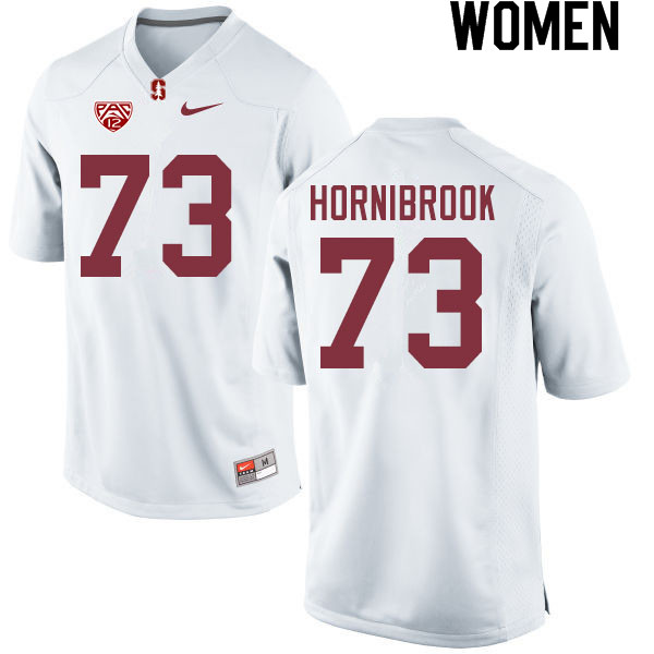 Women #73 Jake Hornibrook Stanford Cardinal College Football Jerseys Sale-White