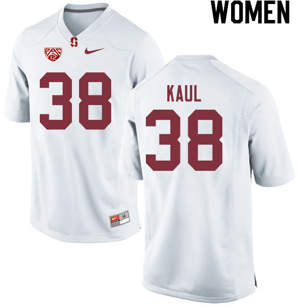 Women #38 Jason Kaul Stanford Cardinal College Football Jerseys Sale-White