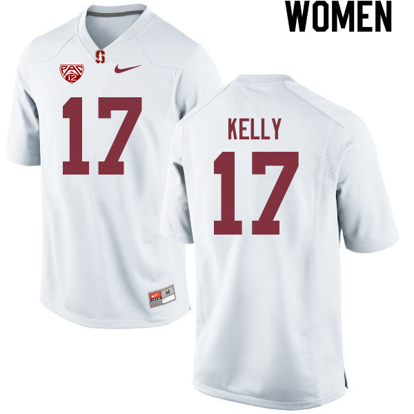Women #17 Kyu Blu Kelly Stanford Cardinal College Football Jerseys Sale-White