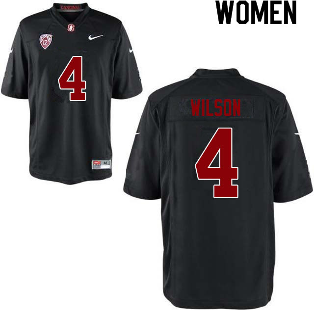 Women #4 Michael Wilson Stanford Cardinal College Football Jerseys Sale-Black