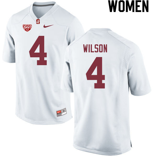 Women #4 Michael Wilson Stanford Cardinal College Football Jerseys Sale-White
