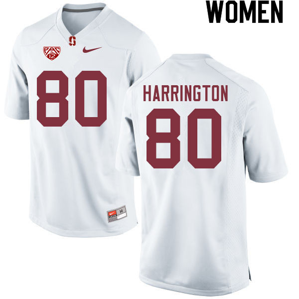 Women #80 Scooter Harrington Stanford Cardinal College Football Jerseys Sale-White