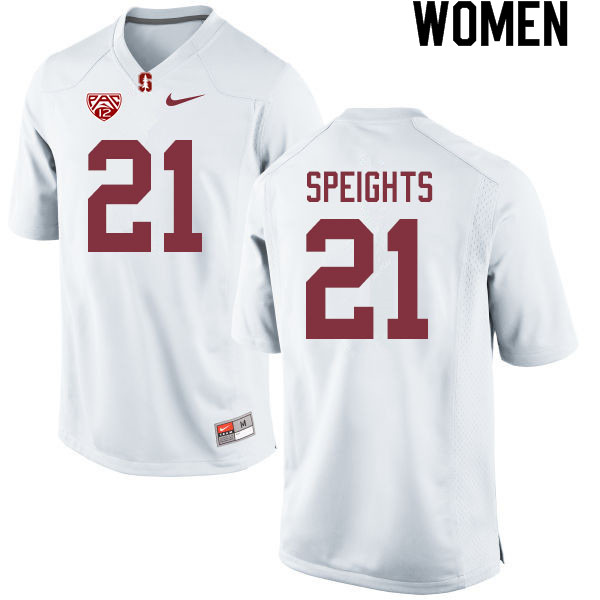 Women #21 Trevor Speights Stanford Cardinal College Football Jerseys Sale-White