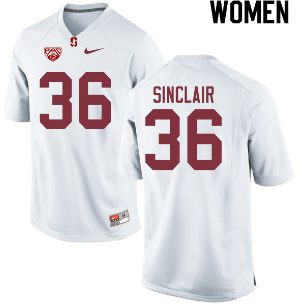 Women #36 Tristan Sinclair Stanford Cardinal College Football Jerseys Sale-White