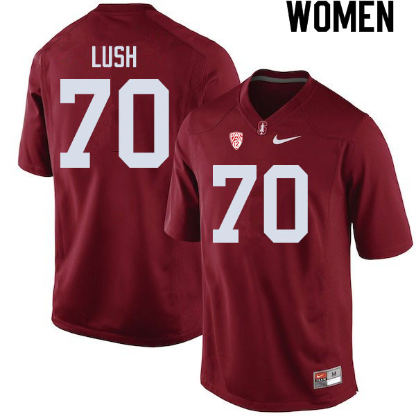 Women #70 Wakely Lush Stanford Cardinal College Football Jerseys Sale-Cardinal
