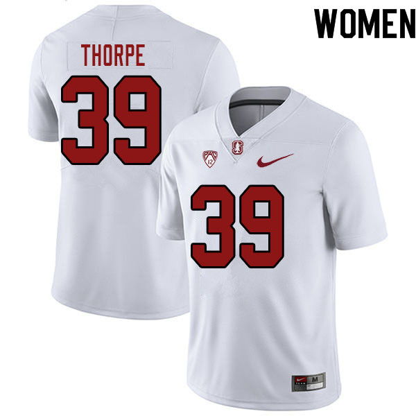 Women #39 Alexander Thorpe Stanford Cardinal College Football Jerseys Sale-White