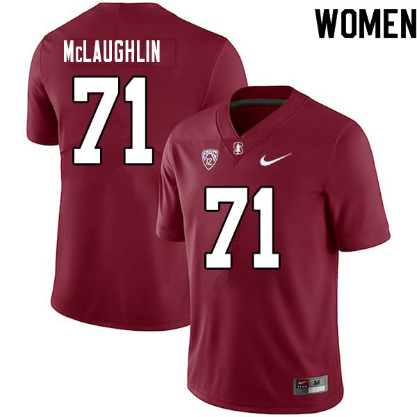 Women #71 Connor McLaughlin Stanford Cardinal College Football Jerseys Sale-Cardinal