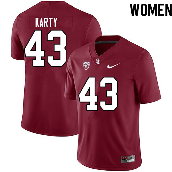 Women #43 Joshua Karty Stanford Cardinal College Football Jerseys Sale-Cardinal