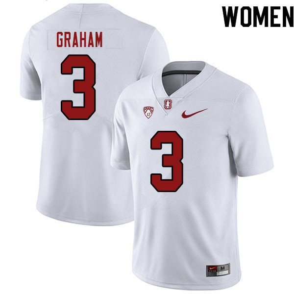 Women #3 Marcus Graham Stanford Cardinal College Football Jerseys Sale-White