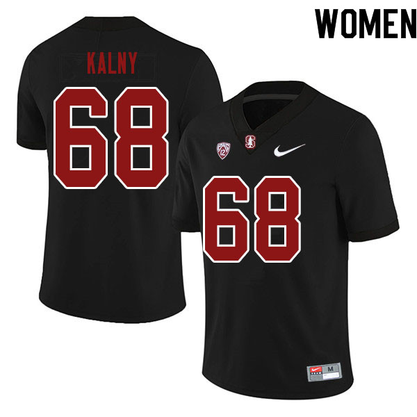 Women #68 Max Kalny Stanford Cardinal College Football Jerseys Sale-Black