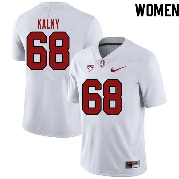 Women #68 Max Kalny Stanford Cardinal College Football Jerseys Sale-White