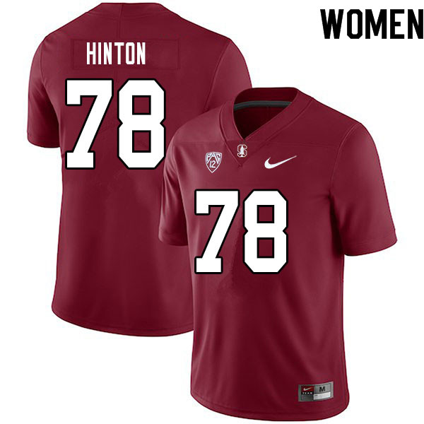 Women #78 Myles Hinton Stanford Cardinal College Football Jerseys Sale-Cardinal