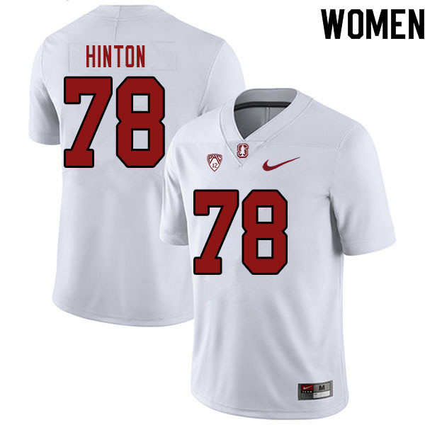 Women #78 Myles Hinton Stanford Cardinal College Football Jerseys Sale-White