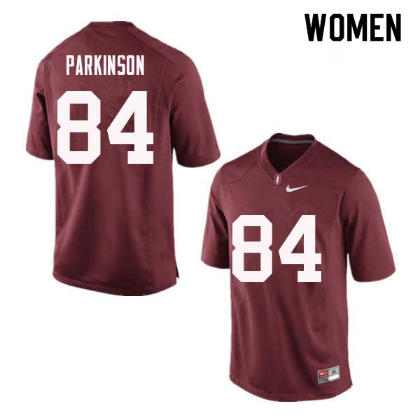 Women Stanford Cardinal #84 Colby Parkinson College Football Jerseys Sale-Red