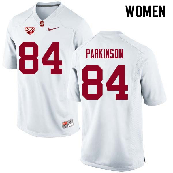 Women Stanford Cardinal #84 Colby Parkinson College Football Jerseys Sale-White
