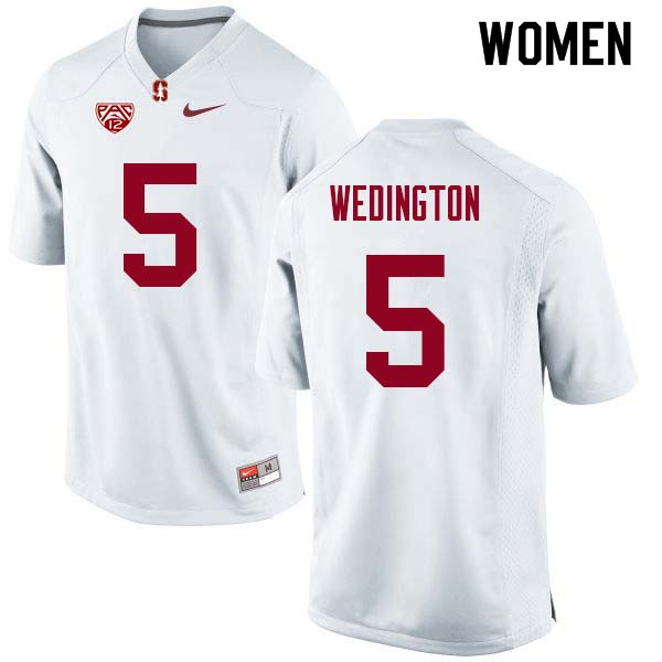 Women Stanford Cardinal #5 Connor Wedington College Football Jerseys Sale-White