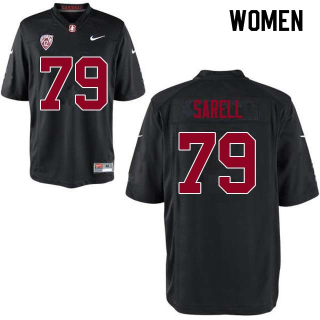 Women Stanford Cardinal #79 Foster Sarell College Football Jerseys Sale-Black