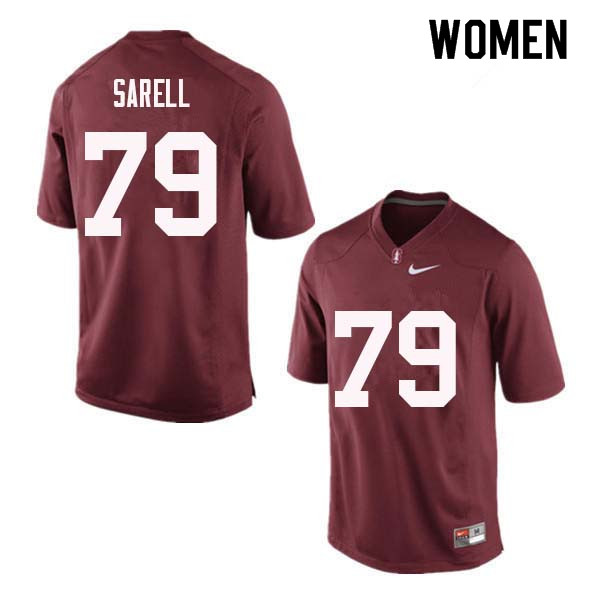 Women Stanford Cardinal #79 Foster Sarell College Football Jerseys Sale-Red
