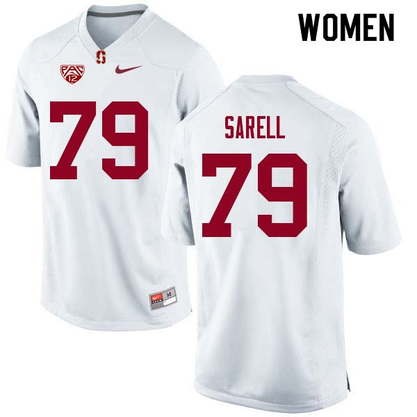 Women Stanford Cardinal #79 Foster Sarell College Football Jerseys Sale-White