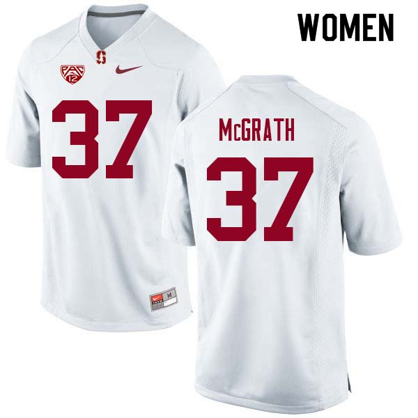 Women Stanford Cardinal #37 Joe McGrath College Football Jerseys Sale-White