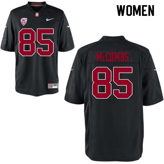 Women Stanford Cardinal #85 Kyle McCombs College Football Jerseys Sale-Black