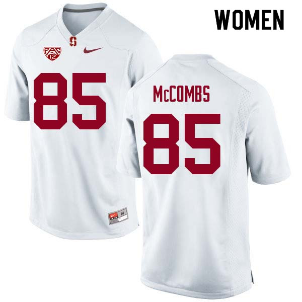 Women Stanford Cardinal #85 Kyle McCombs College Football Jerseys Sale-White