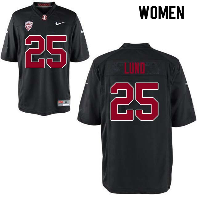Women Stanford Cardinal #25 Sione Lund College Football Jerseys Sale-Black
