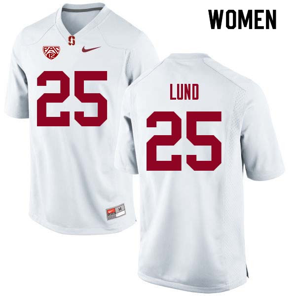 Women Stanford Cardinal #25 Sione Lund College Football Jerseys Sale-White