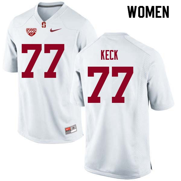 Women Stanford Cardinal #77 Thunder Keck College Football Jerseys Sale-White