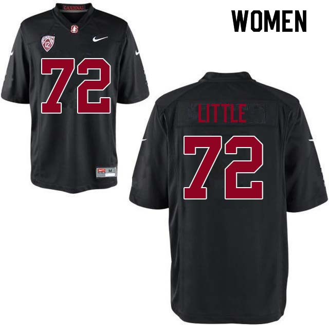 Women Stanford Cardinal #72 Walker Little College Football Jerseys Sale-Black