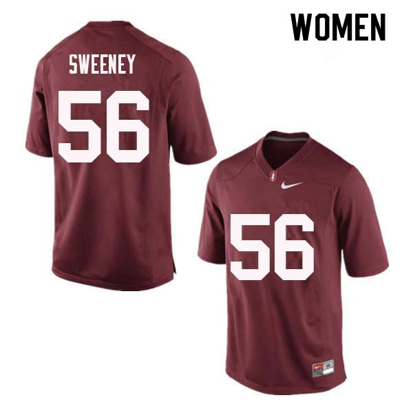 Women Stanford Cardinal #56 Will Sweeney College Football Jerseys Sale-Red