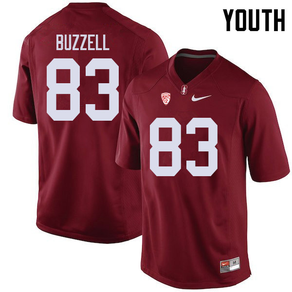 Youth #83 Cameron Buzzell Stanford Cardinal College Football Jerseys Sale-Cardinal