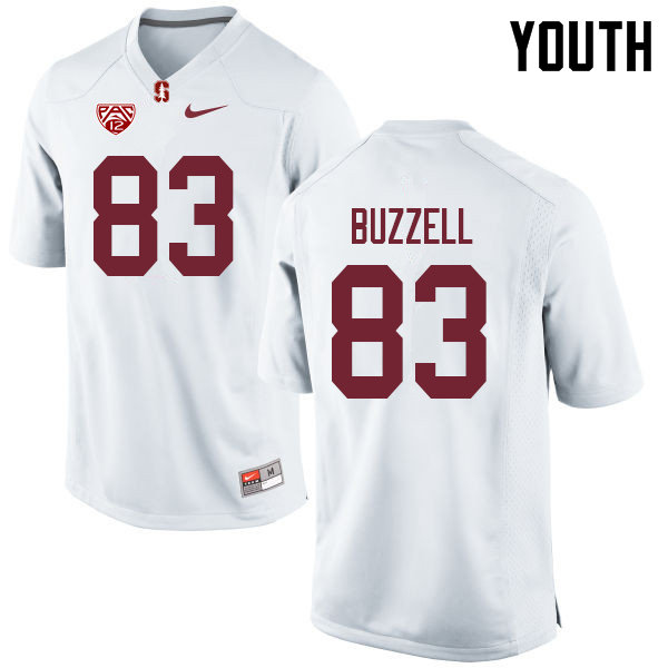 Youth #83 Cameron Buzzell Stanford Cardinal College Football Jerseys Sale-White
