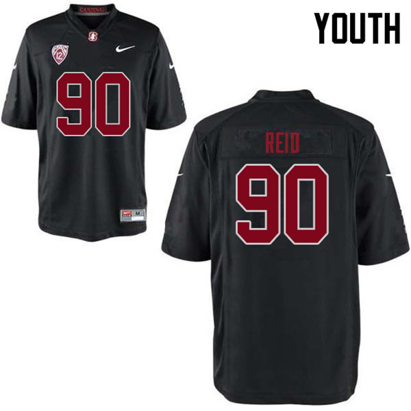 Youth #90 Gabe Reid Stanford Cardinal College Football Jerseys Sale-Black