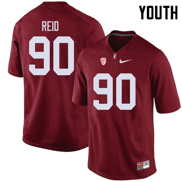 Youth #90 Gabe Reid Stanford Cardinal College Football Jerseys Sale-Cardinal