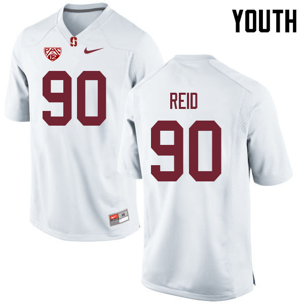 Youth #90 Gabe Reid Stanford Cardinal College Football Jerseys Sale-White
