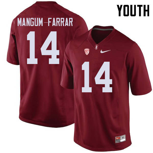 Youth #14 Jacob Mangum-Farrar Stanford Cardinal College Football Jerseys Sale-Cardinal