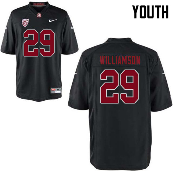 Youth #29 Kendall Williamson Stanford Cardinal College Football Jerseys Sale-Black