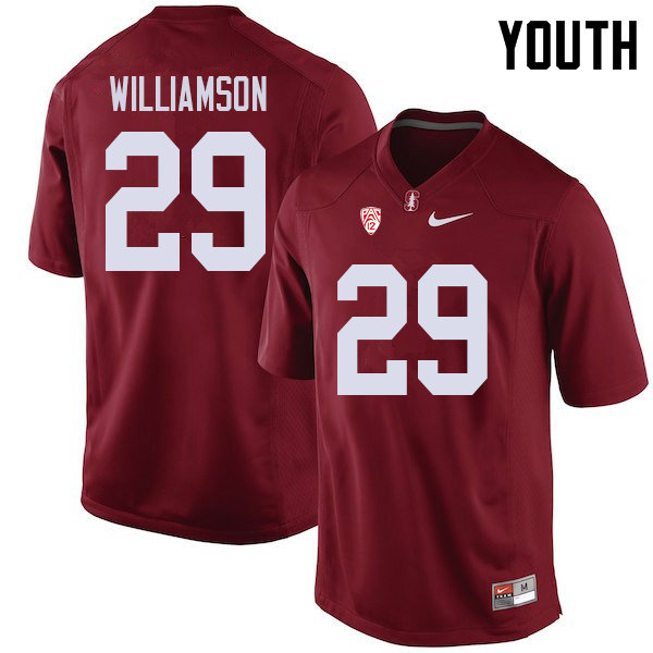 Youth #29 Kendall Williamson Stanford Cardinal College Football Jerseys Sale-Cardinal