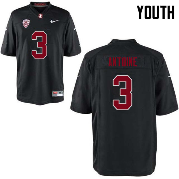 Youth #3 Malik Antoine Stanford Cardinal College Football Jerseys Sale-Black