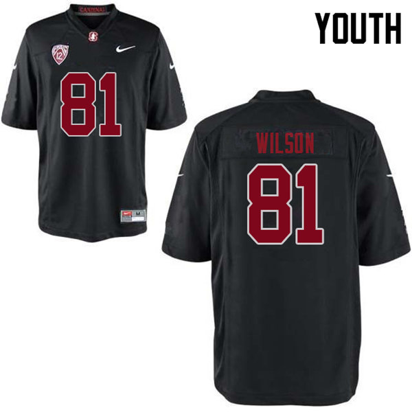Youth #81 Michael Wilson Stanford Cardinal College Football Jerseys Sale-Black