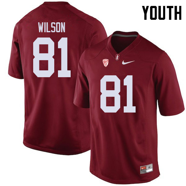 Youth #81 Michael Wilson Stanford Cardinal College Football Jerseys Sale-Cardinal