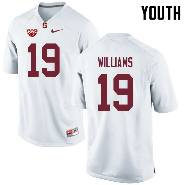 Youth #19 Noah Williams Stanford Cardinal College Football Jerseys Sale-White