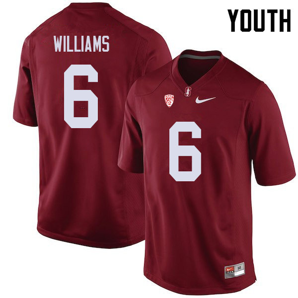 Youth #6 Reagan Williams Stanford Cardinal College Football Jerseys Sale-Cardinal
