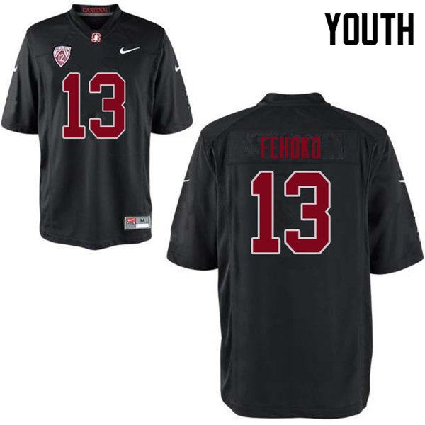 Youth #13 Simi Fehoko Stanford Cardinal College Football Jerseys Sale-Black
