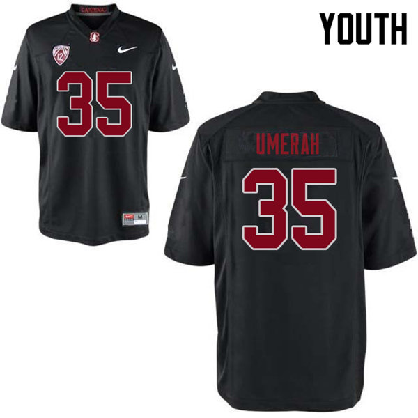 Youth #35 Tobe Umerah Stanford Cardinal College Football Jerseys Sale-Black