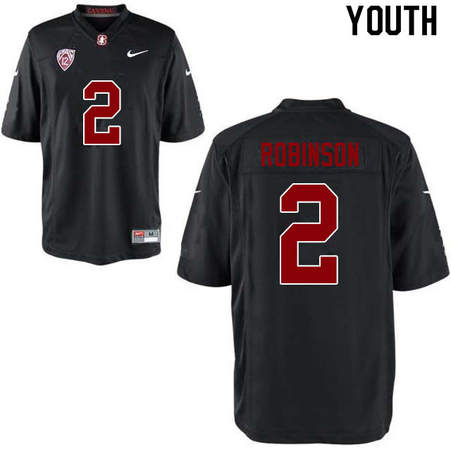Youth #2 Curtis Robinson Stanford Cardinal College Football Jerseys Sale-Black