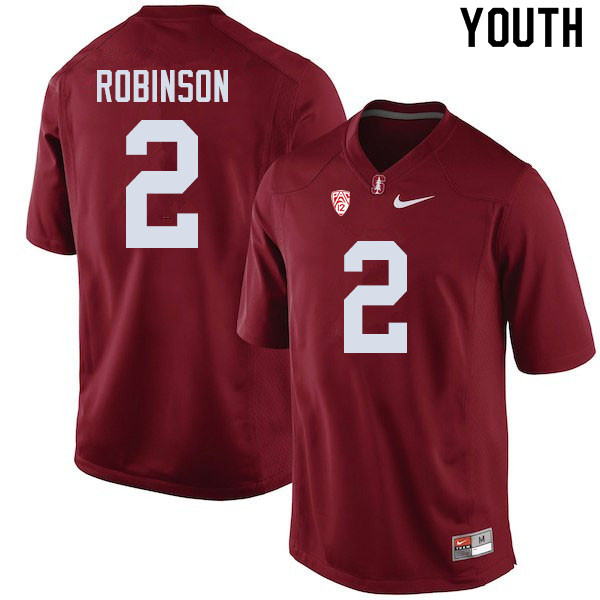 Youth #2 Curtis Robinson Stanford Cardinal College Football Jerseys Sale-Cardinal